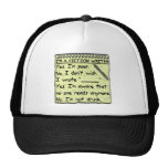 Funny Fiction Writer Answer Sheet Notebook Cap