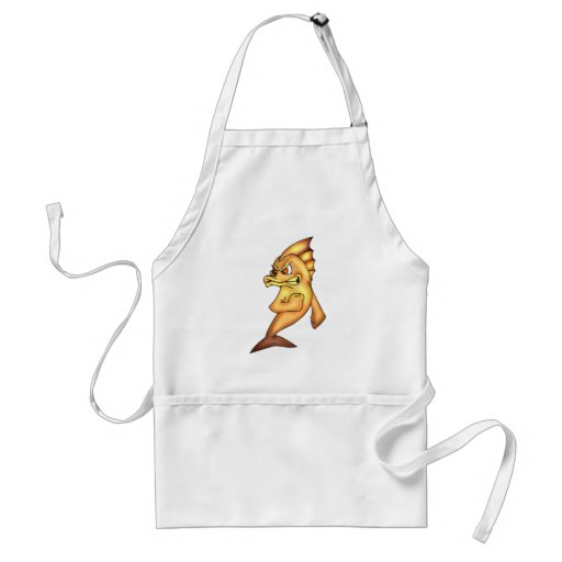 Funny Fighting Fish Aprons