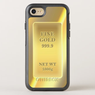 Funny Fine Gold 999.9 Gold Brick Look OtterBox Symmetry iPhone 8/7 Case
