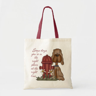Funny Fire Hydrant Dog Tote Bag For Dog Lover