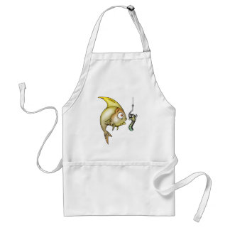 Funny Fish And Worm Standard Apron