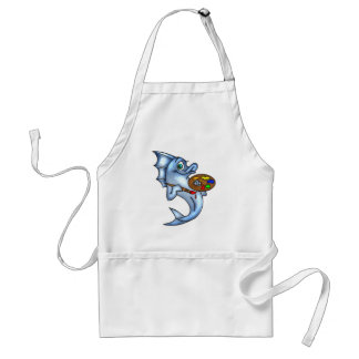 Funny Fish Artist Adult Apron