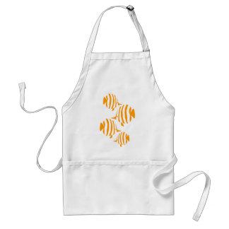 Funny fish ornament apron