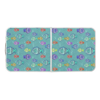 Funny FISH pattern colored + your ideas Pong Table