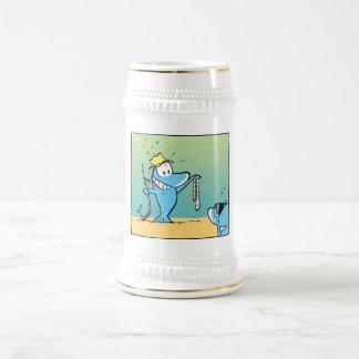Funny Fishing Cartoon Beer Stein Beer Steins