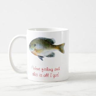 Funny fishing coffee cut classic white coffee mug