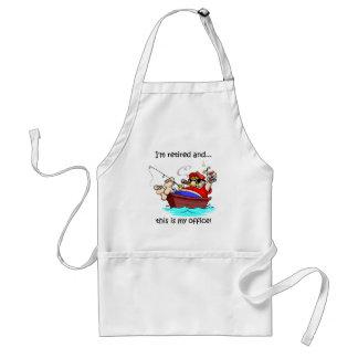 Funny fishing retirement standard apron