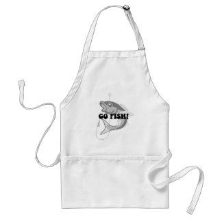 Funny fishing standard apron
