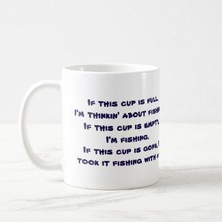 Funny Fishing Themed Basic White Mug