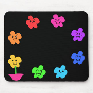 Funny Flowers Mouse Pad
