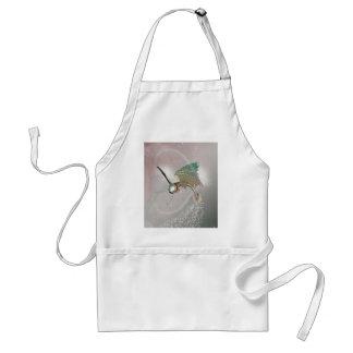 Funny flying fish apron
