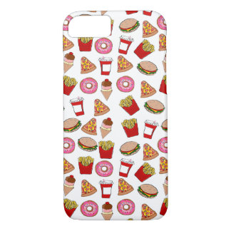 Funny foodie pattern iPhone 7 case