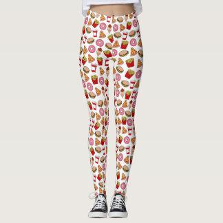 Funny foodie pattern leggings
