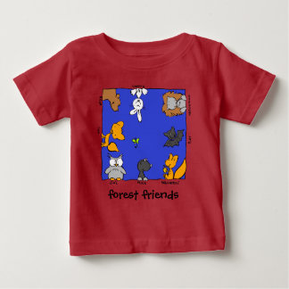 "Funny Forest Animals-""forest friends"" Baby T-Shirt"