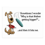 Funny Frisbee Postcard