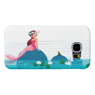 Funny Frog Prince and the Sweet Little Mermaid Samsung Galaxy S6 Cases