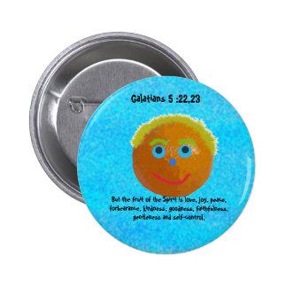 Funny Fruits of the Spirit Orange Pin