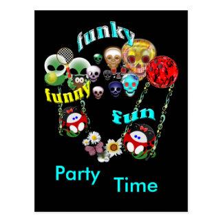 Funny Funky Fun Birthday Postcard