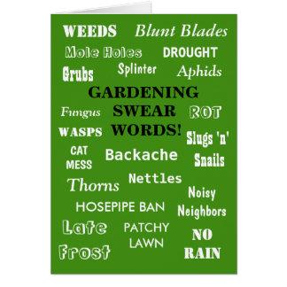 Funny Gardener Birthday Joke Gardening Swear Words Card