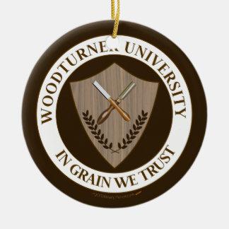 Funny Gift for Woodturner Woodturning University Christmas Ornament