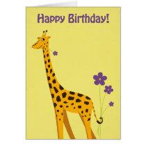 Funny Giraffe Birthday