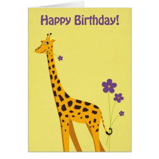 Funny Giraffe Birthday Greeting Card