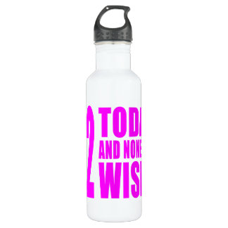 Funny Girls Birthdays  42 Today and None the Wiser 710 Ml Water Bottle