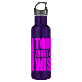 Funny Girls Birthdays : 44 Today and None the Wise 710 Ml Water Bottle