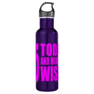 Funny Girls Birthdays  45 Today and None the Wiser 710 Ml Water Bottle