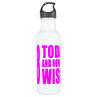Funny Girls Birthdays  48 Today and None the Wiser 710 Ml Water Bottle