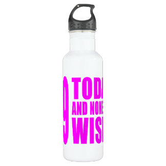 Funny Girls Birthdays  49 Today and None the Wiser 710 Ml Water Bottle