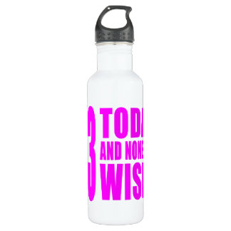 Funny Girls Birthdays  53 Today and None the Wiser 710 Ml Water Bottle