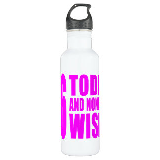 Funny Girls Birthdays  56 Today and None the Wiser 710 Ml Water Bottle