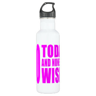 Funny Girls Birthdays  60 Today and None the Wiser 710 Ml Water Bottle