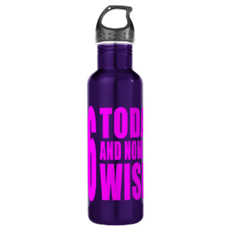 Funny Girls Birthdays  66 Today and None the Wiser 710 Ml Water Bottle