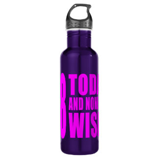 Funny Girls Birthdays  68 Today and None the Wiser 710 Ml Water Bottle