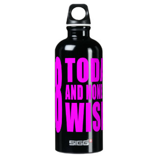 Funny Girls Birthdays  68 Today and None the Wiser Water Bottle