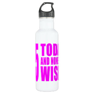 Funny Girls Birthdays  75 Today and None the Wiser 710 Ml Water Bottle