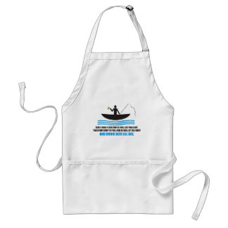 Funny - Give a man a fish and he will eat for a da Apron
