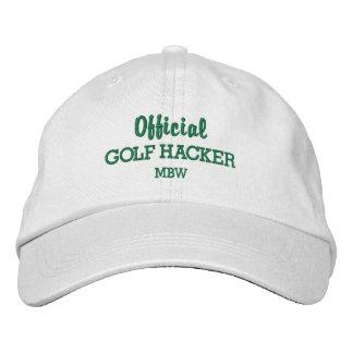 Funny Golf Hacker Custom Monogram Embroidered Baseball Cap