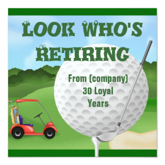Funny Golf  Retirement Invitations TEMPLATE
