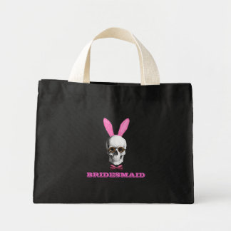 Funny gothic bridesmaid tote bags