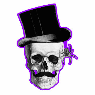 Funny Gothic skull groom Photo Sculpture Decoration