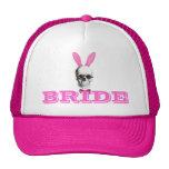 Funny gothic steampunk bunny brides cap