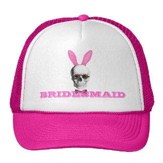 Funny gothic steampunk bunny bridesmaid trucker hat