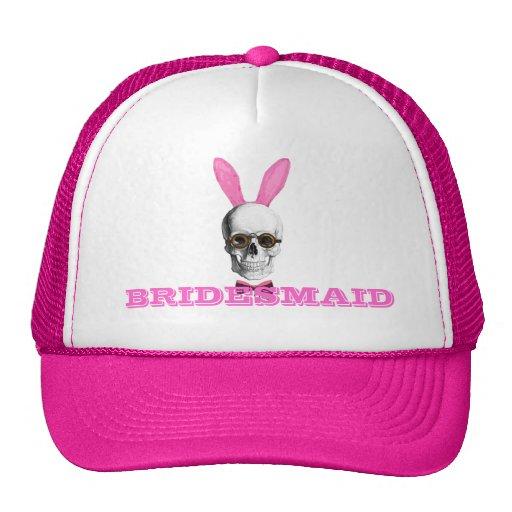Funny gothic steampunk bunny bridesmaid hats
