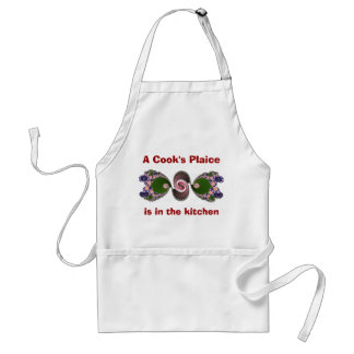 Funny Green Fish Cook s Kitchen Apron