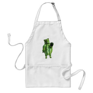 Funny Green Watermelons Bear Standard Apron