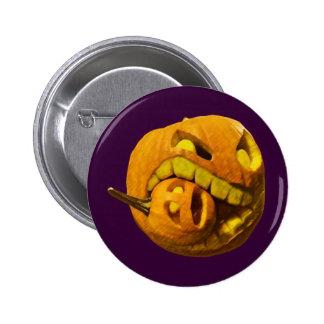 Funny Halloween Pumpkin Head Pin