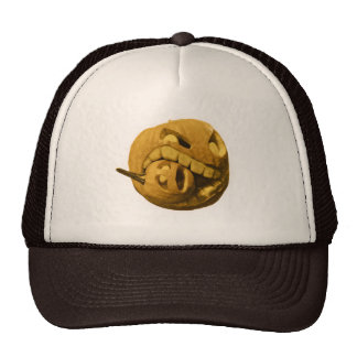 Funny Halloween Pumpkin Head Trucker Hats
